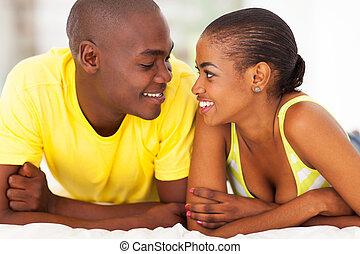 ζευγάρι , νέος , ρομαντικός , αφρικανός