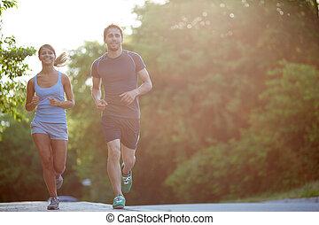 ζευγάρι , τρέξιμο