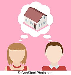 ζευγάρι , house., για , ονειρεύομαι