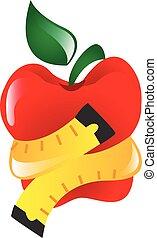 ζουληγμένο , ταινία , μήλο , μέτρο