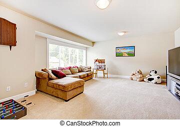 ζούμε , αναξιόλογος δωμάτιο , καφέ , τηλεόραση , sofa., μεγάλος