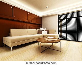 ζούμε , καναπέs , μοντέρνος δωμάτιο , περιοχή