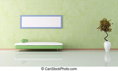 ζούμε , μοντέρνος , πράσινο , δωμάτιο