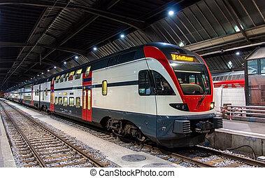 ζυρίχη , ελβετία , τρένο , περιφερειακός , schaffhausen