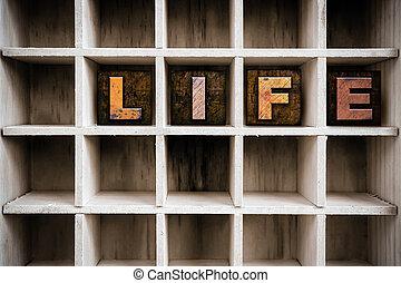ζωή , γενική ιδέα , στοιχειοθετημένο κείμενο , ξύλινος , συρτάρι , δακτυλογραφώ