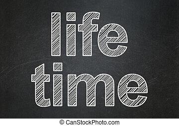 ζωή , timeline , chalkboard , φόντο , ώρα , concept: