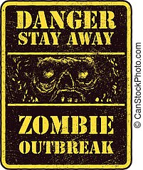 ζόμπι , αφίσα , outbreak.