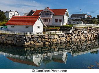 ζώ σε καλύβα , μέσα , νορβηγία