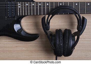 ηλεκτρική κιθάρα , και , ακουστικά