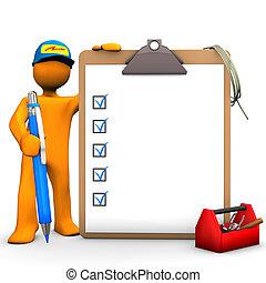 ηλεκτρικός , clipboard , εργάτης