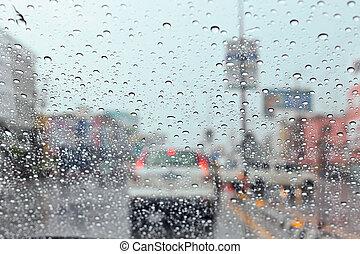 ηλεκτρικό φως , σταγόνα , νερό , πελτέs , κυκλοφορία , rain.