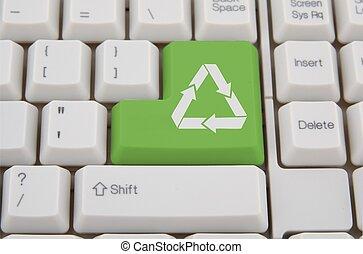 ηλεκτρονικός εγκέφαλος κλαβιέ , - , πράσινο , ανακύκλωση , κλειδί