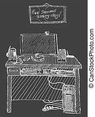ηλεκτρονικός υπολογιστής , άγνοια φόντο , εικόνα , γραφείο , μικροβιοφορέας , πληκτρολόγιο