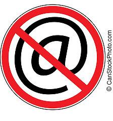 ηλεκτρονικός υπολογιστής , απαγόρευση , σήμα
