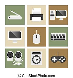 ηλεκτρονικός υπολογιστής , icons.
