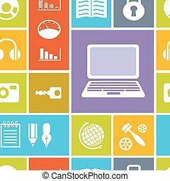 ηλεκτρονικός υπολογιστής , seamless, φόντο