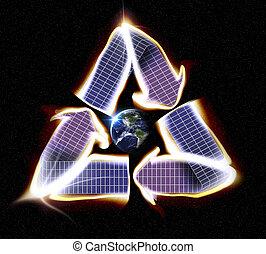 ηλιακός θερμοσυσσωρευτής , γη , ανακυκλώνω