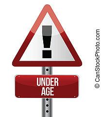 ηλικία , σήμα , κυκλοφορία , δρόμοs , κάτω από