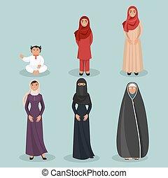 ηλικιωμένος άνθρωπος , παιδί , αραβικός , γένεση , γυναίκεs
