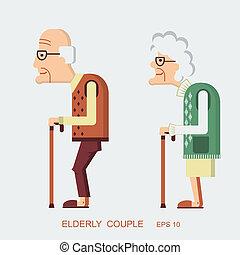 ηλικιωμένος ακόλουθοι