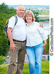ηλικιωμένος , ανώτερος , ζευγάρι