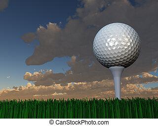 ηλιοβασίλεμα , γκολφ , ή , ανατολή