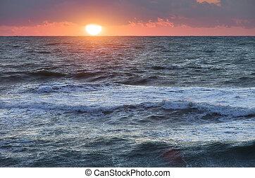 ηλιοβασίλεμα , θάλασσα