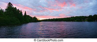 ηλιοβασίλεμα , λίμνη