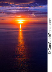 ηλιοβασίλεμα , πάνω , μεσογειακός , ανατολή , θάλασσα