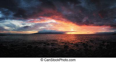 ηλιοβασίλεμα , χαβάη , maui