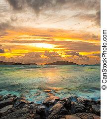 ηλιοβασίλεμα , dramatic κλίμα , χαβάη