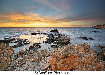 ηλιοβασίλεμα , sea.