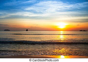 ηλιοβασίλεμα , sea., όμορφος