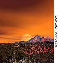 ηλιοβασίλεμα , sedona