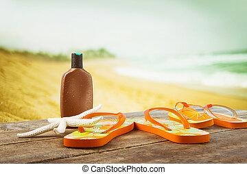 ηλιοθεραπεία , ξύλινος , εξαρτήματα , βάζω , παραλία , επενδύω δι