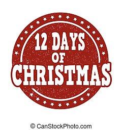 ημέρες , 12 , γραμματόσημο , xριστούγεννα