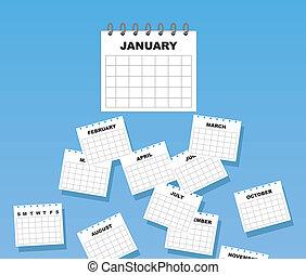 ημερολόγιο , μήνες , αλίσκομαι