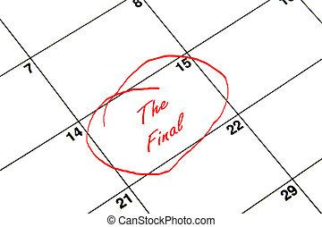 ημερολόγιο , τελικός , κόκκινο , αέναη ή περιοδική επανάληψη