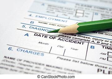 ημερομηνία , υγεία , ατύχημα , - , μορφή