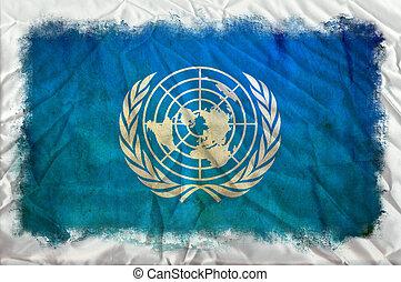 ηνωμένα έθνη , grunge , σημαία
