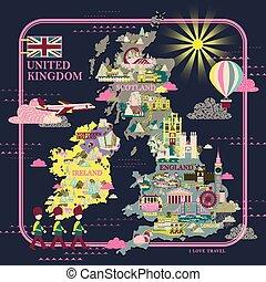 ηνωμένο βασίλειο , ταξιδεύω , χάρτηs