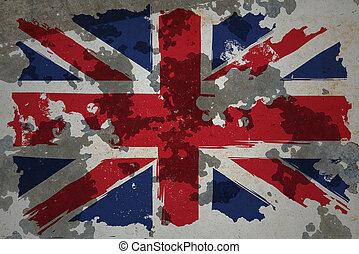 ηνωμένο βασίλειο , grunge , σημαία