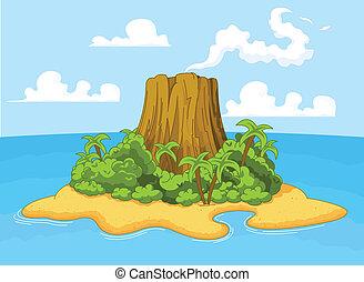 ηφαίστειο , νησί
