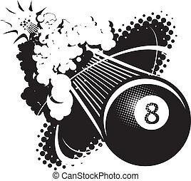 ηχητικός , μπάλα , οκτώ , αλυσίδα