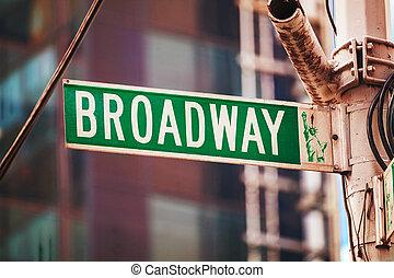 η π α , πόλη , σήμα , york , broadway , καινούργιος