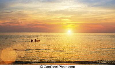 θάλασσα , ηλιοβασίλεμα , όμορφος , ακτή