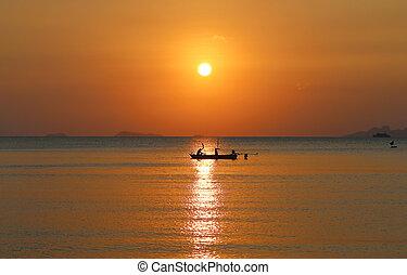 θάλασσα , ηλιοβασίλεμα , όμορφος