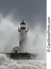 θάλασσα , καταιγίδα , απρόσεκτος , άνθρωποι , μέσο
