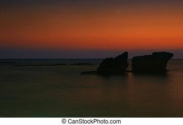 θάλασσα , νύκτα