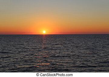 θάλασσα , όμορφος , ηλιοβασίλεμα
